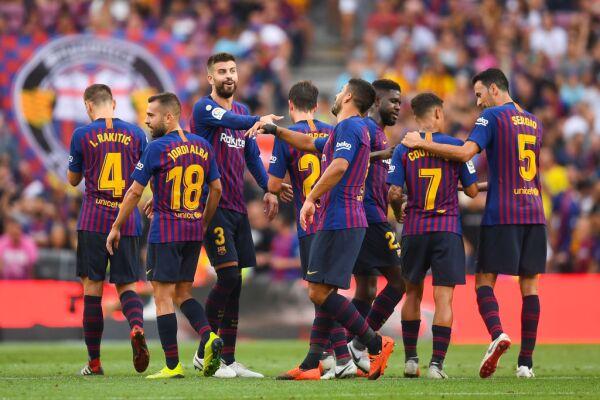 Barcelona Champions League contenders