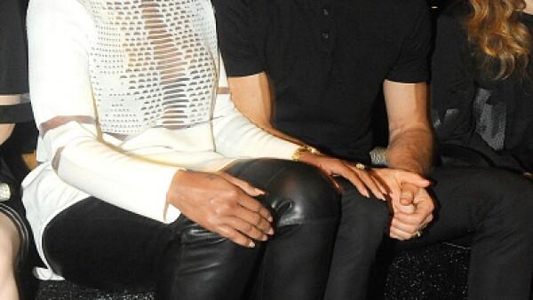 Mary J. Blige y Justin Theroux en primera fila del show.