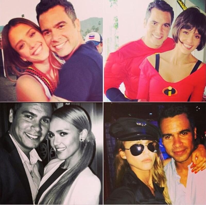 La actriz cumplió media década con su esposo Cash Warren. Como regalo, compartió algunas fotos de la pareja en su cuenta de Instagram.