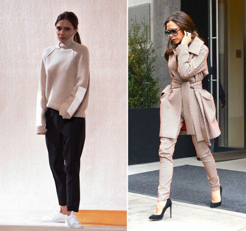 La diseñadora de modas y &#39top mom&#39 dejó en shock a medios internacionales tras ser captada con unos zapatos tipo &#39slipper&#39, pues por primera vez, dejó a un lado los tacones.