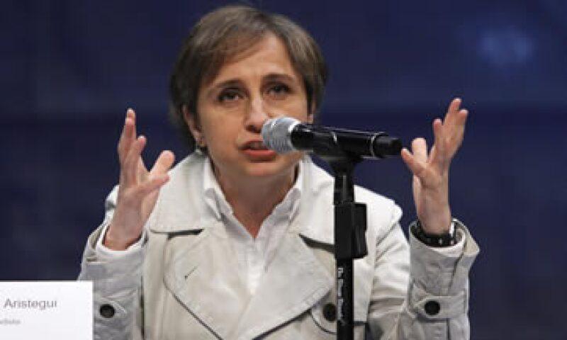 Aristegui interpuso una demanda de amparo contra MVS tras la remoción de su programa de noticias. (Foto: Notimex )