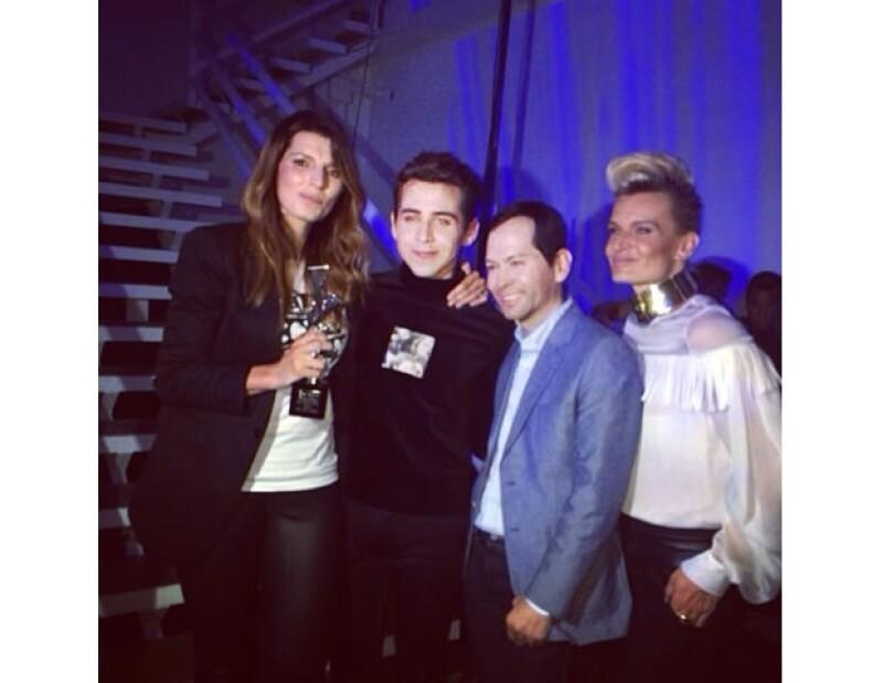 Luisa, Sara y Rolando festejaron ayer con Omar