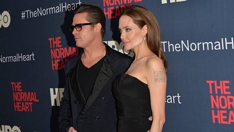 Jolie asistió al evento en compañía de Brad Pitt.
