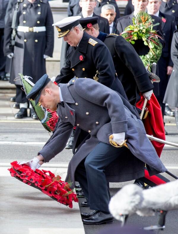 El príncipe Andrew y el príncipe William