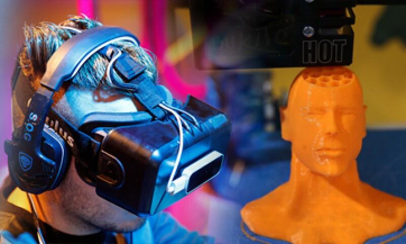 La impresión 3D y la realidad virtual pueden empezar a crecer masivamente este año. (Foto: Especial)