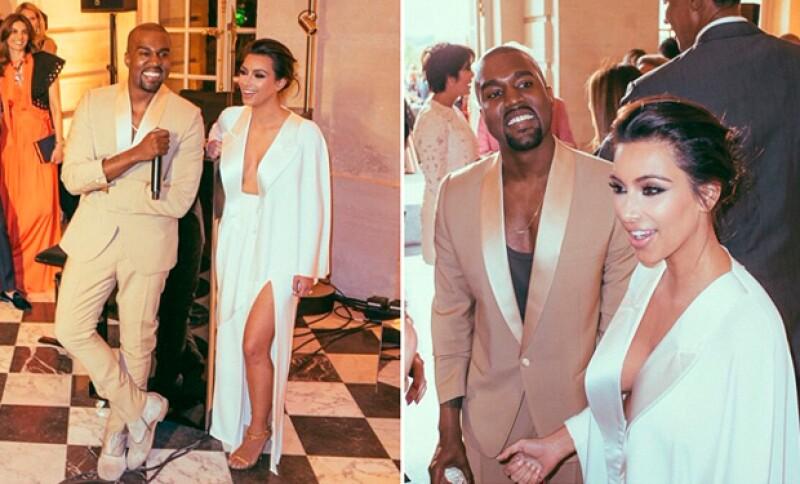 La pareja se casó el año pasado y aunque la boda fue muy íntima, en su primer aniversario compartieron fotos inéditas del enlace.