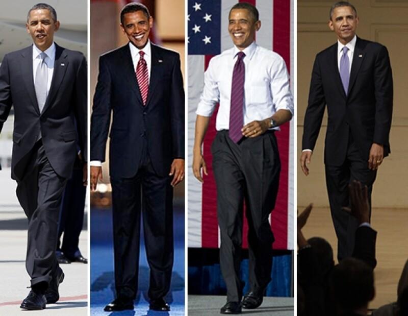 En una constante Obama utiliza prendas de precios asequibles.