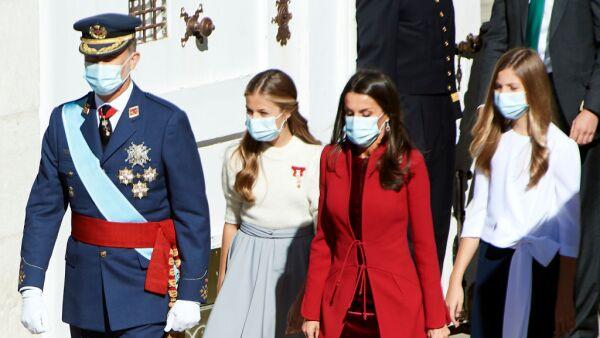 Rey Felipe VI, princesa Leonor, reina Letizia y la infanta Sofía