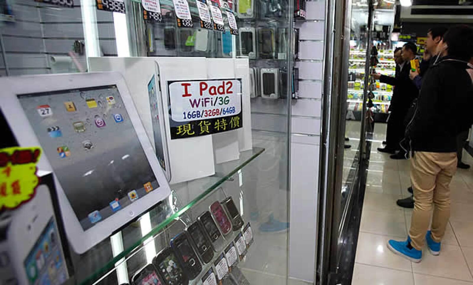 En Hong Kong también aparecieron copias del equipo de Apple.