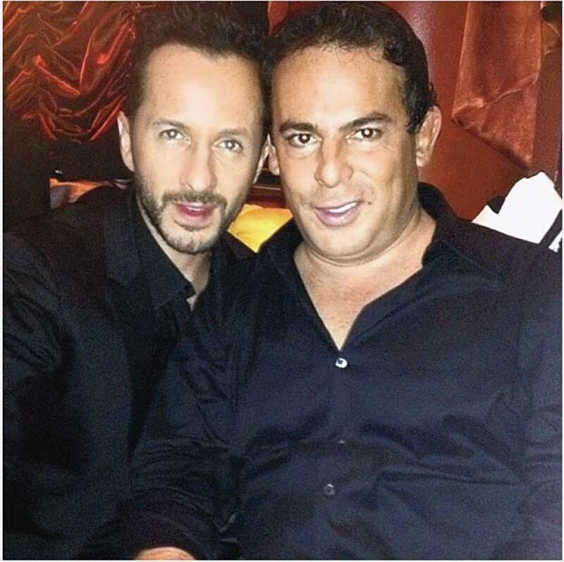Eugenio López en una selfie con su amigo Óscar Madrazo.