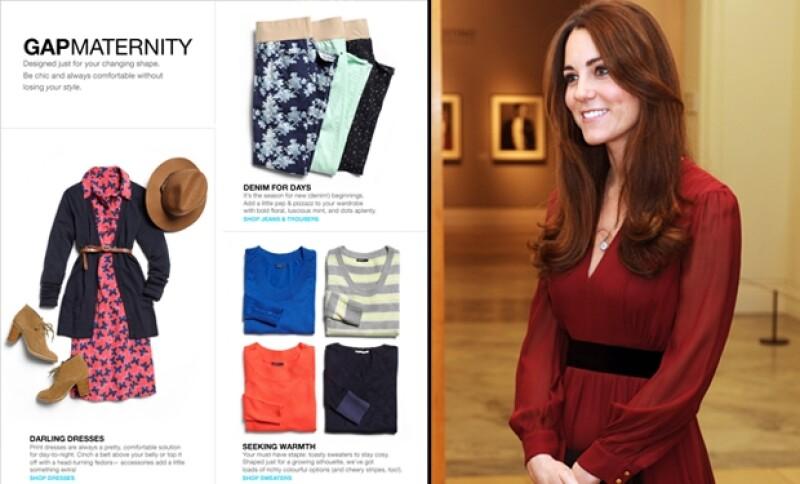 La duquesa de Cambridge fue vista el fin de semana pasado en busca de pantalones cómodos y ropa de bebé en la popular tienda de origen estadounidense.