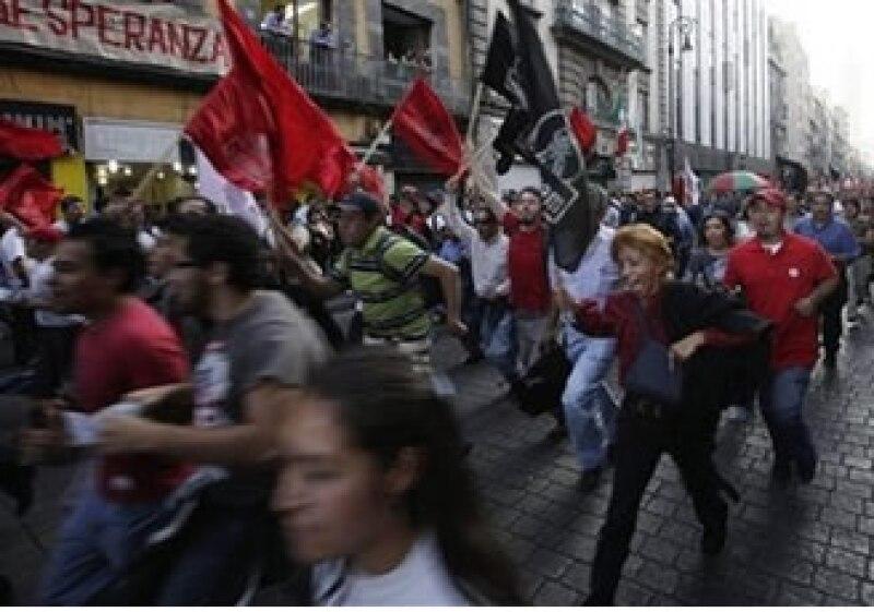 El corredor Reforma-Zócalo, el más afectado por las marchas (Foto: AP)