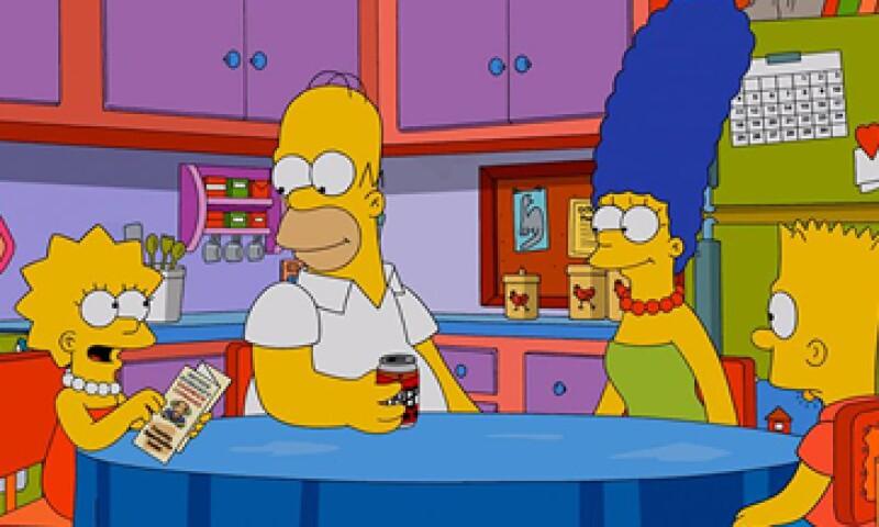 Los Simpsons también han experimentado con las redes sociales en vivo. (Foto: Tomada de facebook.com/TheSimpsons)