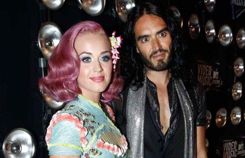 Katy Perry y Russell Brand.