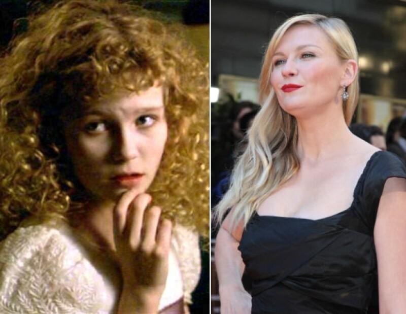 """A Kirsten no le gustó besar a Brad Pitt en """"Entrevista con el vampiro""""."""