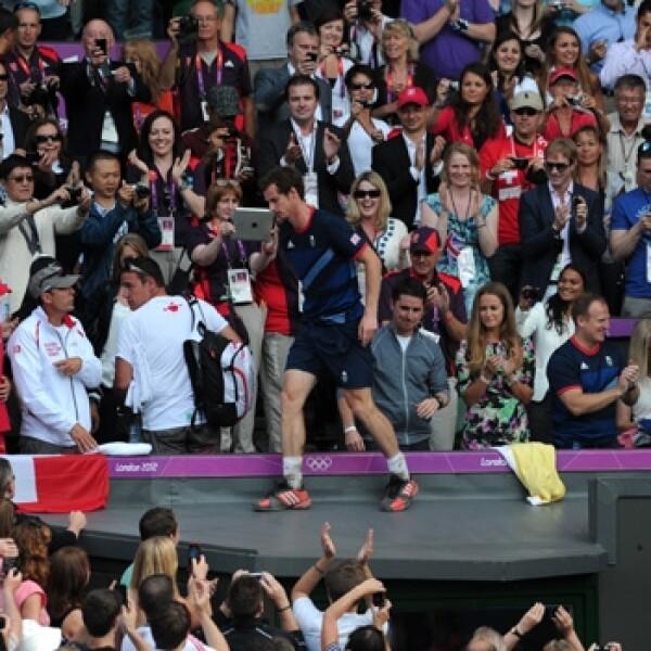 Andy Murray celebra su triunfo en tenis