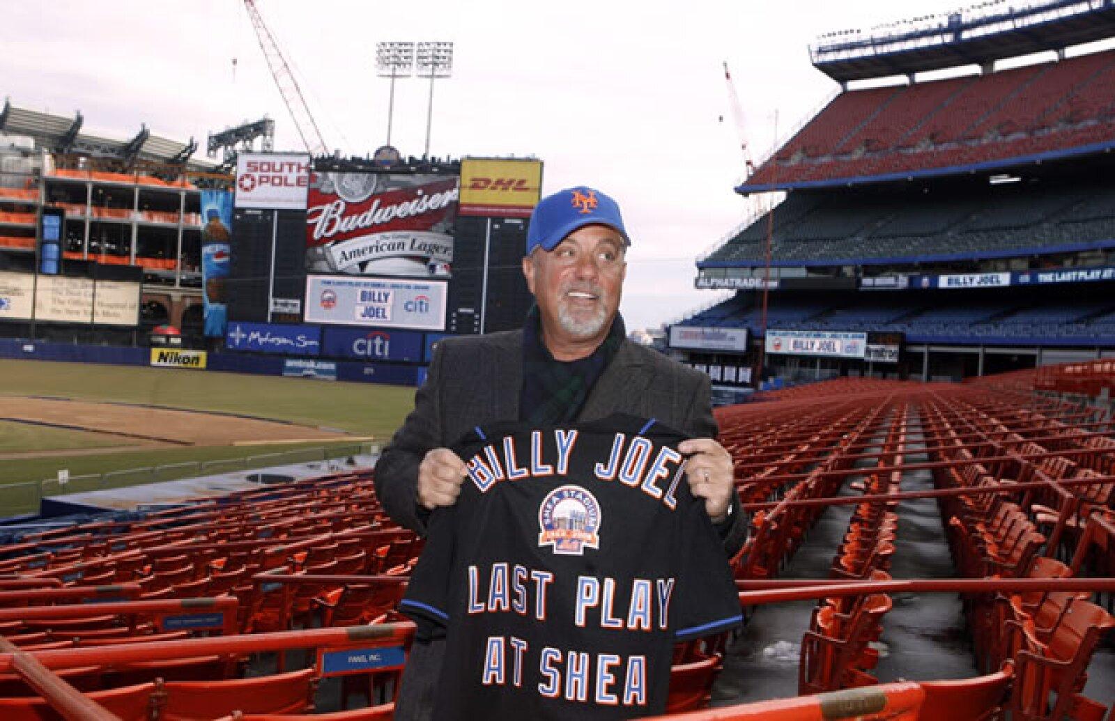 Billy Joel es uno de los más famosos fanáticos de los Mets de Nueva York.