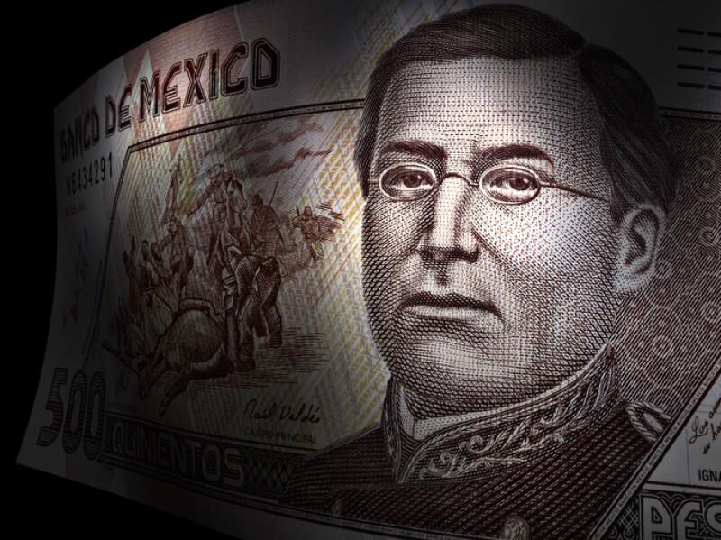 Ignacio Zaragoza's close up in a five hundred pesos bill