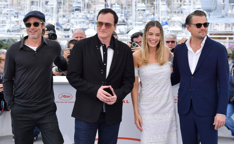 El elenco de Once upon a time in Hollywood en la presentación del filme en el Festival de Cannes.