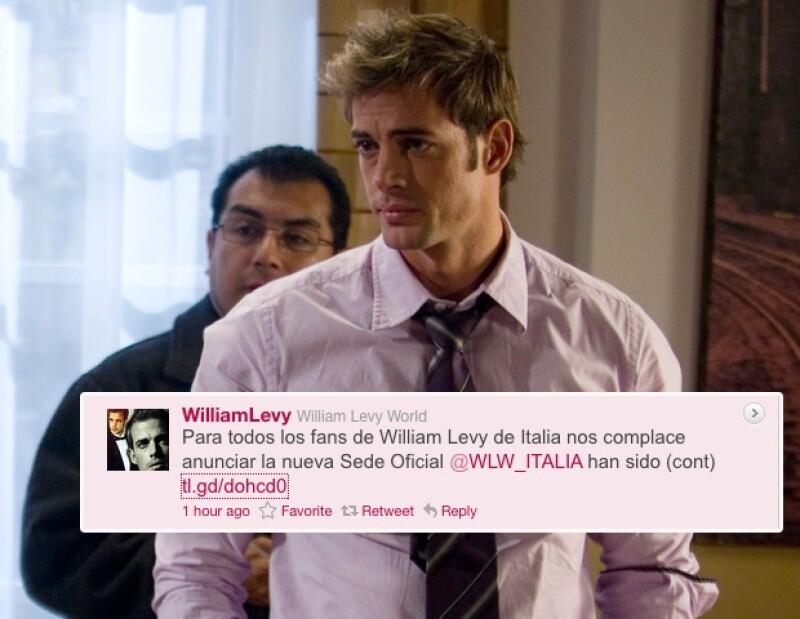 El actor cubano tiene un club de fans oficial en Italia, que ya comenzó a promocionar al artista a través de Twitter.