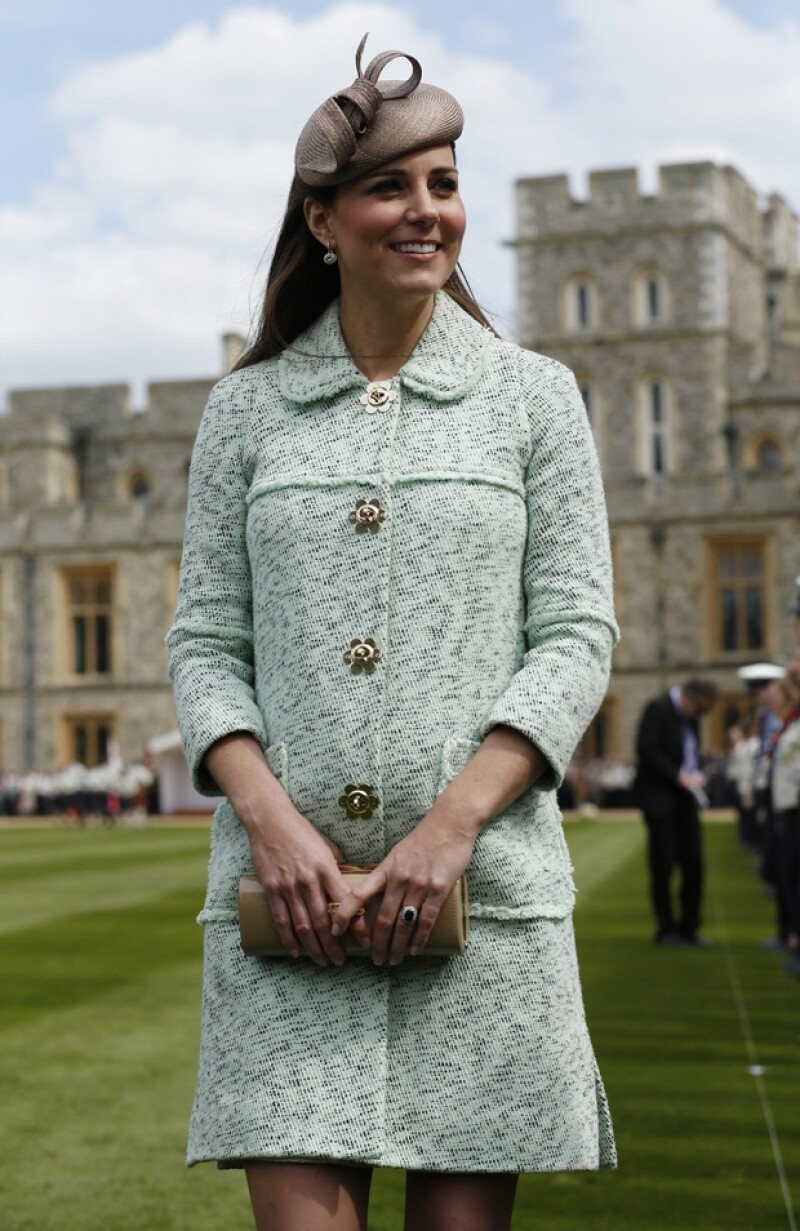 En todas sus apariciones en su primer embarazo Kate lució siempre radiante.
