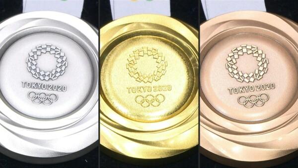 Medallas hechas de metal reciclado para los Juegos Olímpicos de Tokio 2020