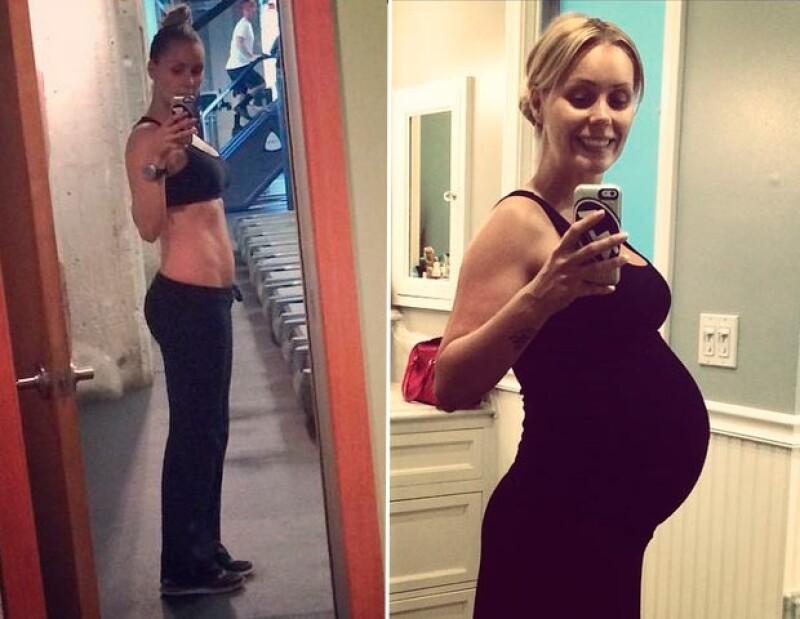 Así luce la actriz a un mes de ser mamá.
