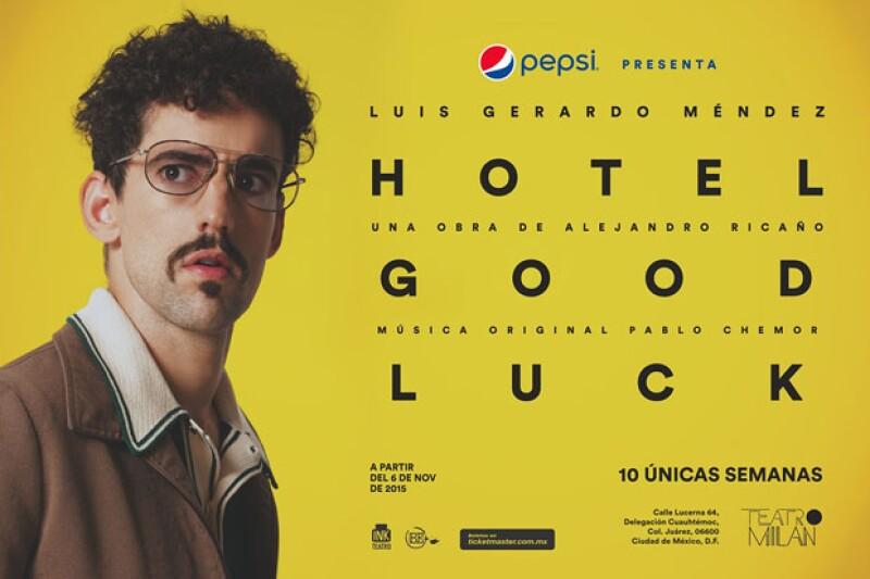 Luis Gerardo Méndez cambia de look para este monólogo.
