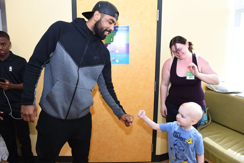 Kyrie Irving Children Hospital Los Angeles