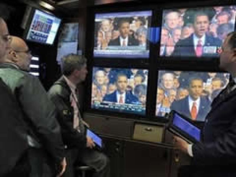 Los mercados estadounidenses siguieron de cerca la toma de posesión de Barack Obama. (Foto: AP)