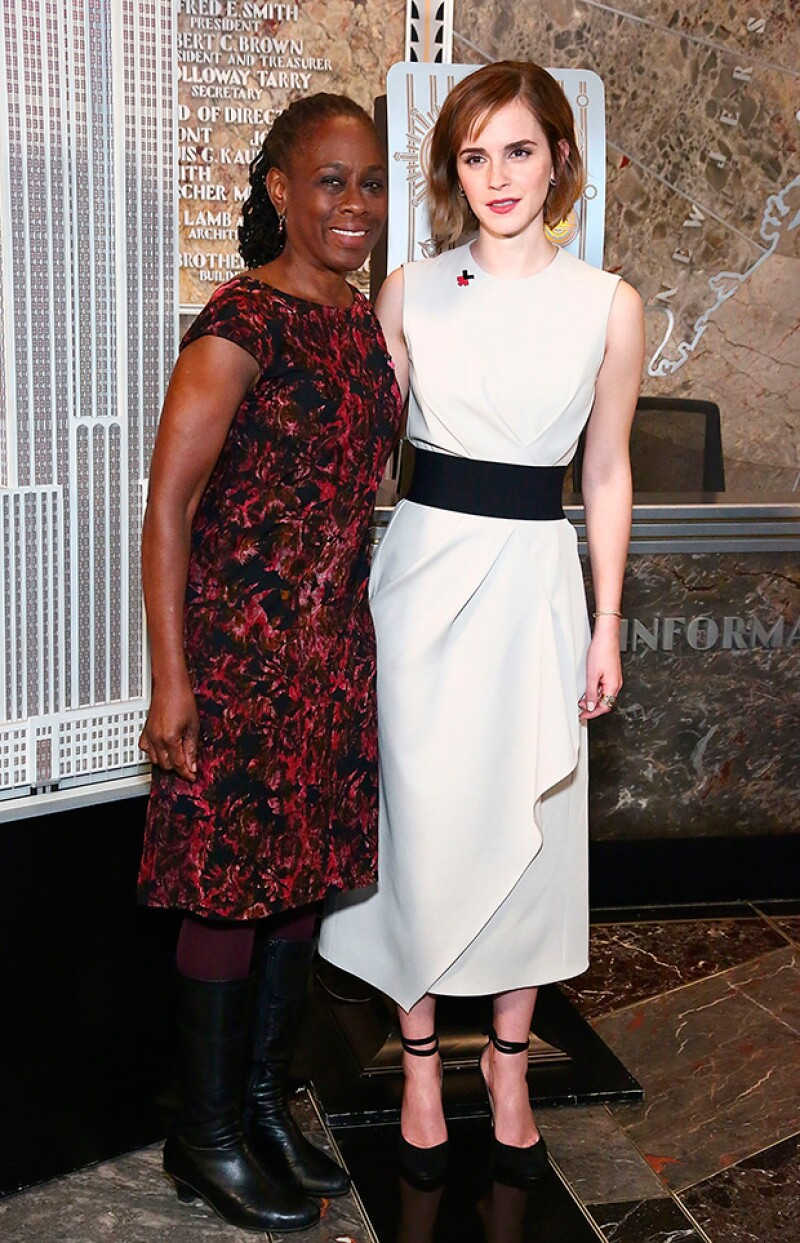 Emma junto a la Primera Dama de Nueva York.