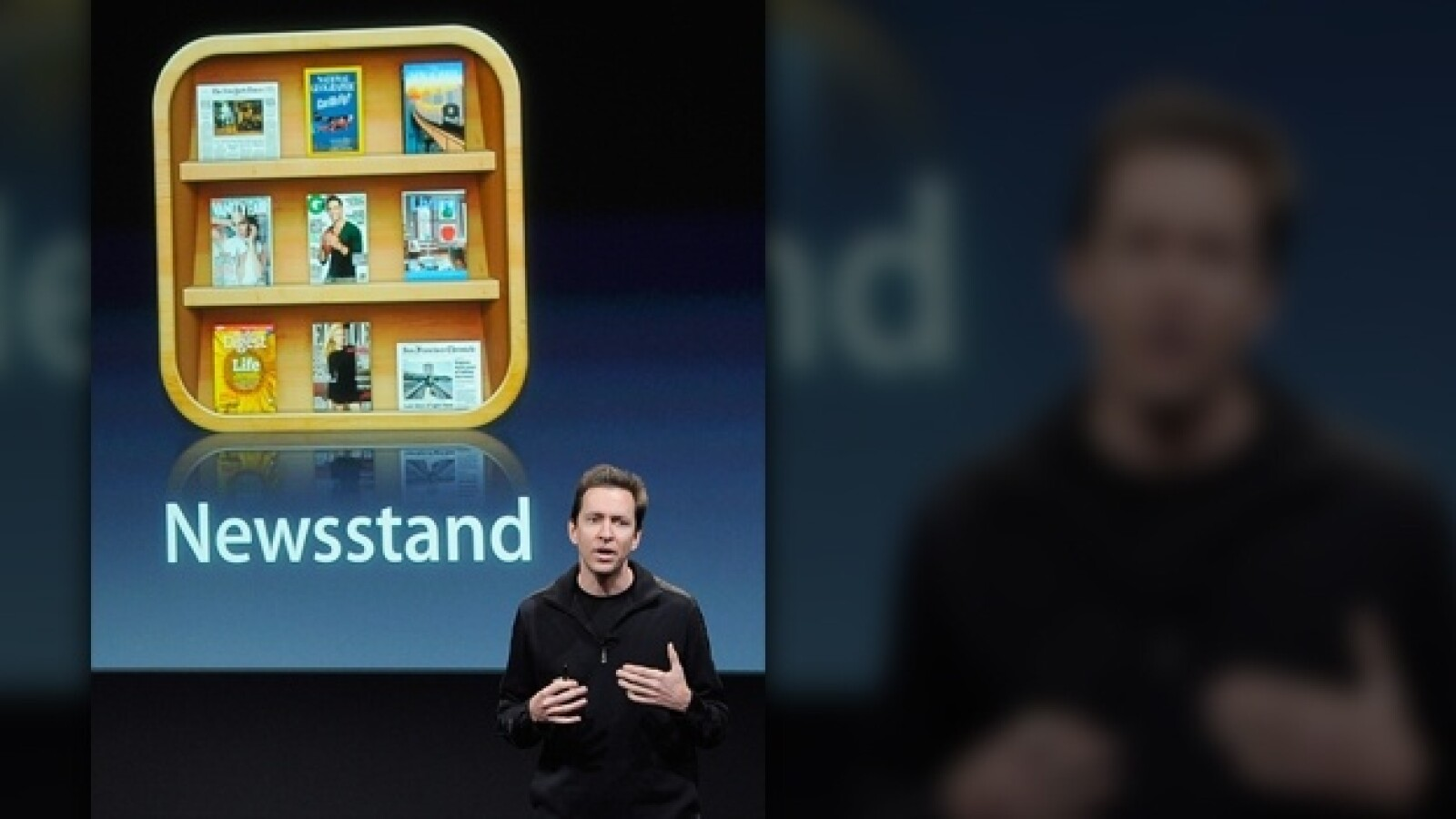 apple iphone 4oct 2011 presentacion news stand