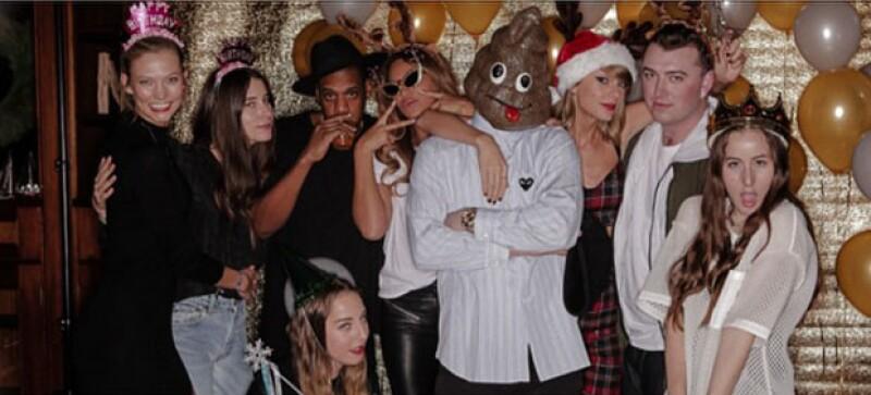 """La cantante convirtió el """"after party"""" del festival """"Jingle Ball"""" de Nueva York en su fiesta de 25 años. Jay Z, Beyoncé, Justin Timberlake y muchos más la acompañaron."""