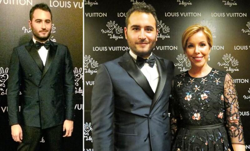 El cantante se encontró en la alfombra negra del evento con Eva Hughes, Directora Editorial de Condé Nast.