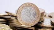 monedas mexicanas con fondo blanco