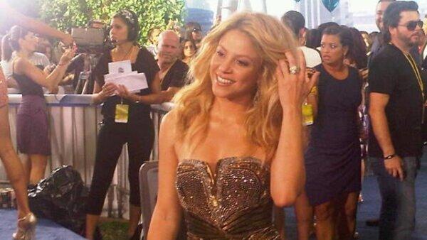 La cantante Shakira fue una de las primeras en llegar.