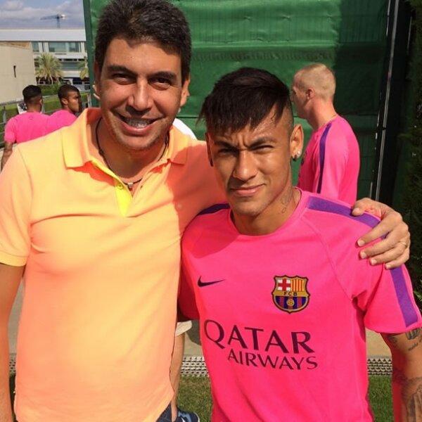 Con el futbolista Neymar.