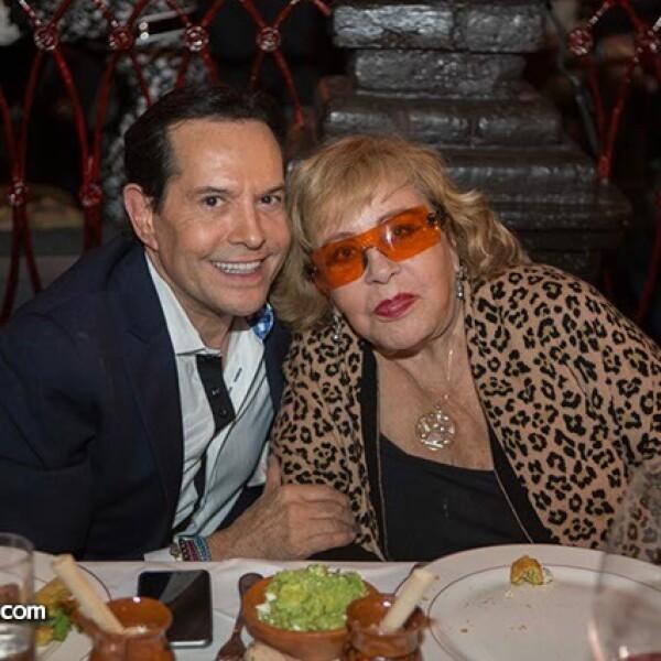 Pepillo Origel con Silvia Pinal,la gran leyenda y muy amiga de Estela Moctezuma,la creadora de Cicero.