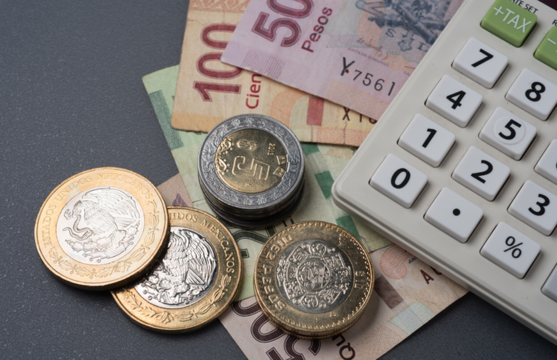 Monedas y billetes Peso Mexicano