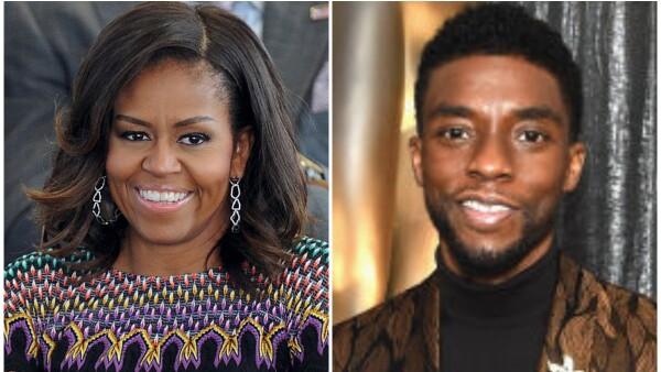 Michelle Obama y Chadwick Boseman