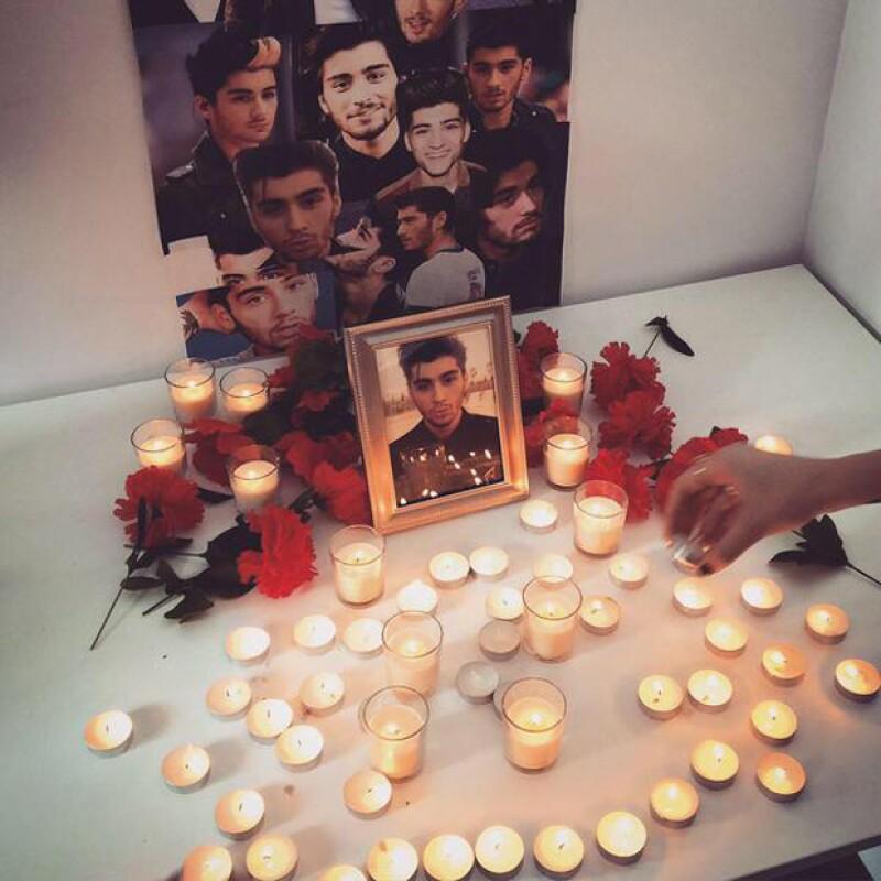 Varias de sus seguidoras compartieron imágenes en su Twitter con la mención RIP Zayn, la cual llegó a ser trend topic.