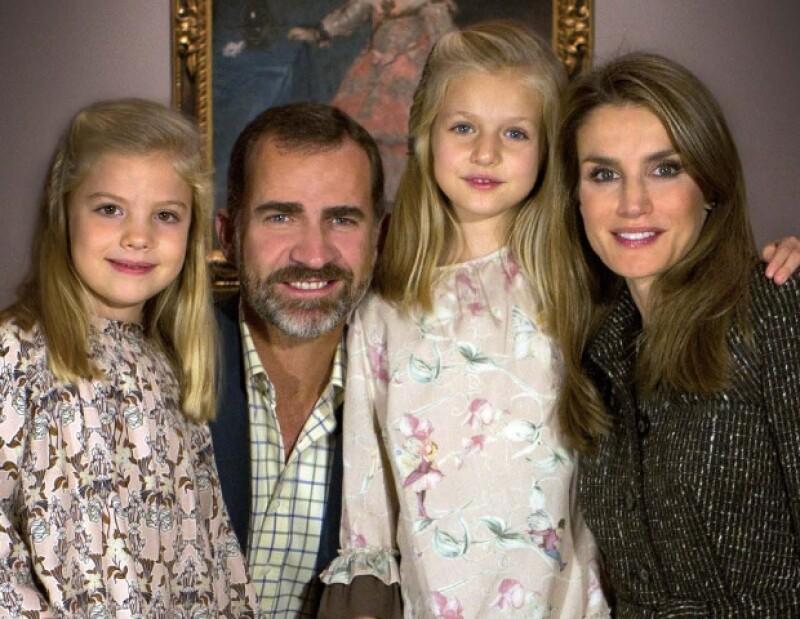La tarjeta navideña de los Príncipes y sus dos hijas ya es una costumbre.