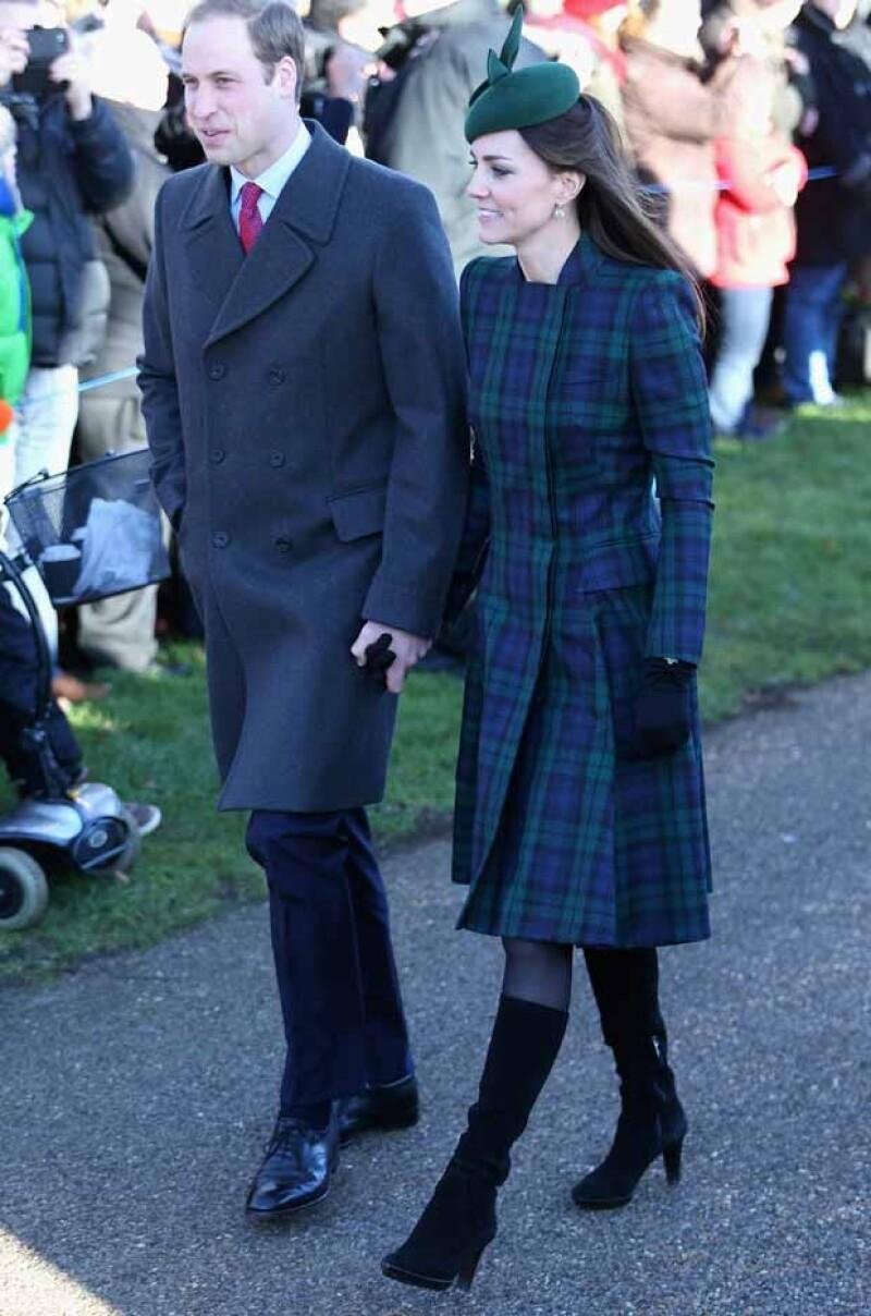 Kate lució impecable en el servicio religioso en un Alexander McQueen.