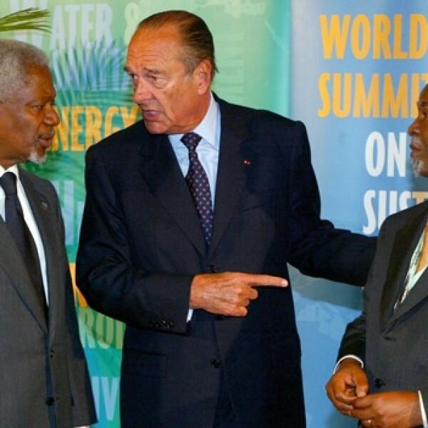 Río+10 Johannesburgo Kofi Annan, Jacques Chirac