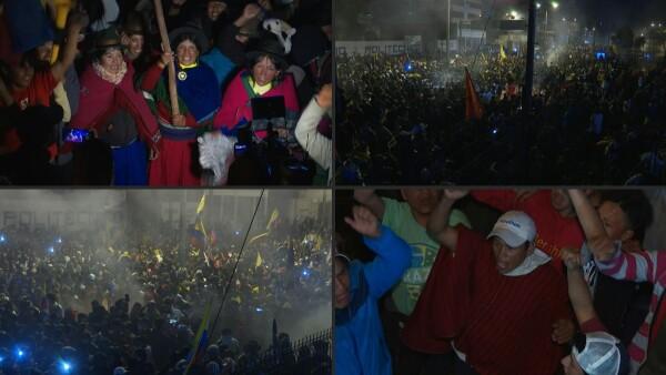 Indígenas de Ecuador celebran el acuerdo para mantener subsidios a combustibles