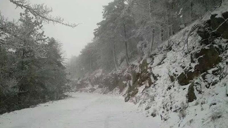 La nevada que cayó este miércoles en Cananea, Sonora, al norte de México