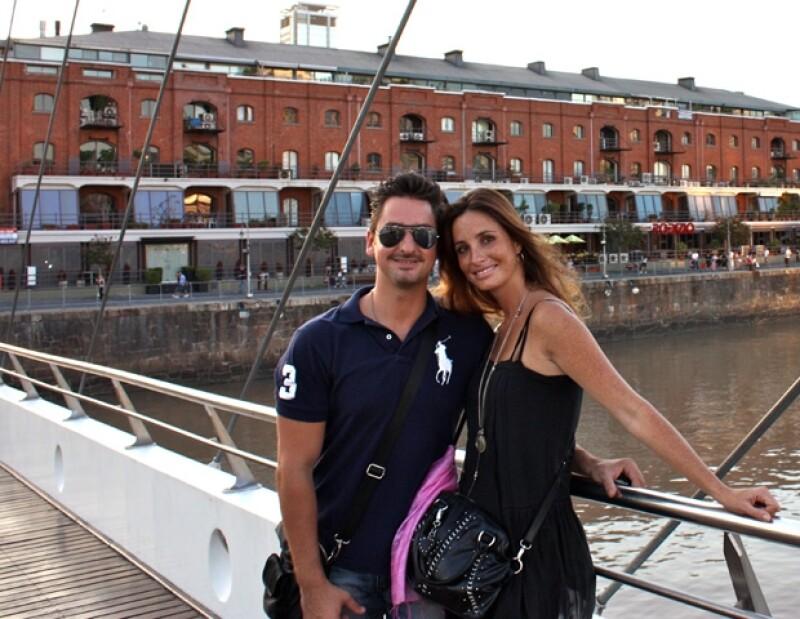 Julián Pérez y Mayalen Estopier cumplirán dos años de casados el 26 de febrero.