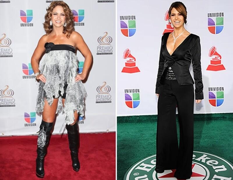 Lucero decidió experimentar usando una falda de Stella Simona como mini vestido, y joyas que dirigían la mirada a un impresionante escote.