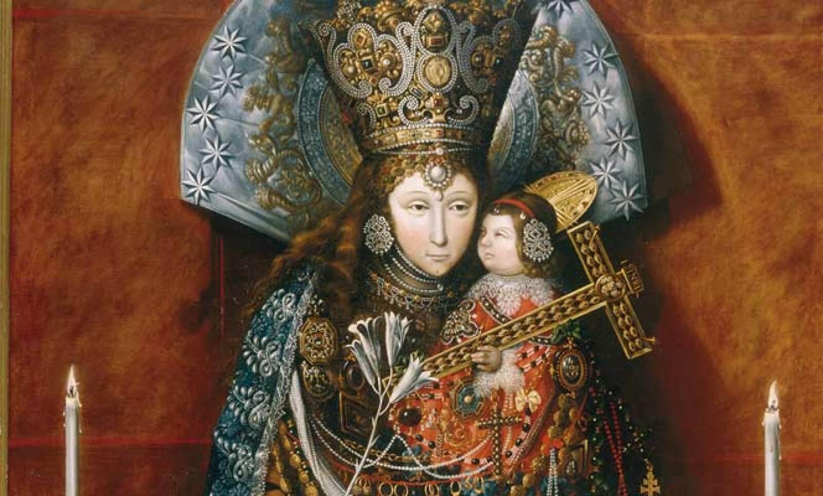 Autor: Tomás Yepes. Material: Óleo sobre tela. Tamaño: 185 x 121 cm. Origen: Monasterio de las Descalzas Reales, Madrid, España.