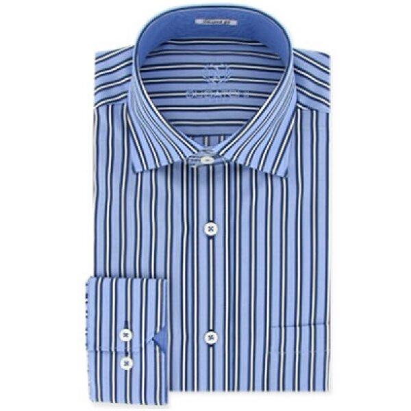 Los cuellos italianos proyectan formalidad y elegancia, una camisa con este tipo de cuello es ideal para hombres de cara alargada.